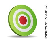 vector illustration of target    Shutterstock .eps vector #222084661