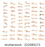 multiple female caucasian hand... | Shutterstock . vector #222085171