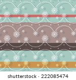 new year snowflake seamless... | Shutterstock .eps vector #222085474