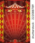 circus red and gold rhombus... | Shutterstock .eps vector #222088789