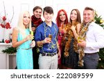 young people celebrating... | Shutterstock . vector #222089599