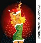 sexy santa helper | Shutterstock .eps vector #222090061