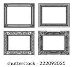 set 4 of vintage gray frame...   Shutterstock . vector #222092035