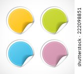 vector round stickers with... | Shutterstock .eps vector #222098851