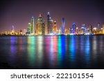 skyscrapers in dubai marina. uae | Shutterstock . vector #222101554