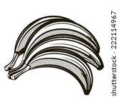 fresh bananas outline vector... | Shutterstock .eps vector #222114967