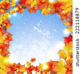 autumn banners with colorful...   Shutterstock .eps vector #222118879