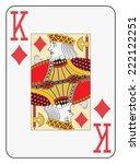 jumbo index king of diamonds... | Shutterstock .eps vector #222122251