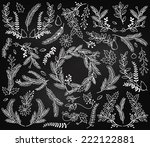 vector collection of vintage... | Shutterstock .eps vector #222122881
