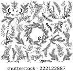 vector collection of vintage... | Shutterstock .eps vector #222122887