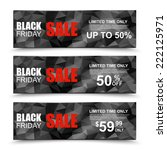 black friday collection sale... | Shutterstock .eps vector #222125971