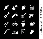 set icons of garden isolated on ... | Shutterstock . vector #222131647
