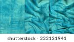 Set Of Turquoise Suede Leather...