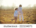two little cute children... | Shutterstock . vector #222134071