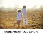 two little cute children... | Shutterstock . vector #222134071