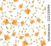 luxurious peony wallapaper in... | Shutterstock .eps vector #222135094