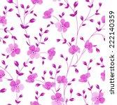 seamless flowers pattern... | Shutterstock .eps vector #222140359