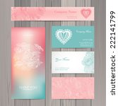 set of business card and... | Shutterstock .eps vector #222141799