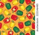bell peppers seamless pattern. | Shutterstock .eps vector #222146485