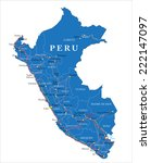 peru map | Shutterstock .eps vector #222147097