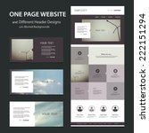 one page website template and... | Shutterstock .eps vector #222151294