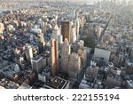 high angle view of manhattan in ...   Shutterstock . vector #222155194