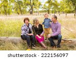lovely family enjoying weekend... | Shutterstock . vector #222156097