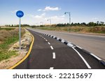 Scenic cycle track - stock photo
