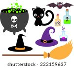 set of accessories for the... | Shutterstock .eps vector #222159637