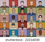 twenty five men of various age... | Shutterstock .eps vector #22216030