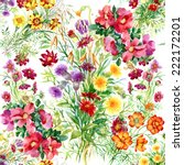 Wild Flowers Seamless Pattern...