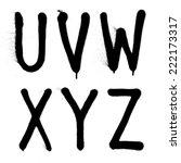 hand written graffiti font type ...   Shutterstock .eps vector #222173317