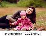 mother and daughter in the... | Shutterstock . vector #222178429