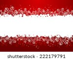 Christmas Snowflake Border On...