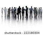 silhouettes of corporate... | Shutterstock . vector #222180304