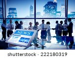 group of people discussion in... | Shutterstock . vector #222180319