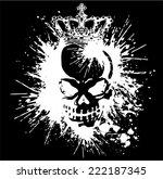 skull and paint  | Shutterstock .eps vector #222187345