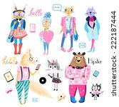 fun bright collection of... | Shutterstock .eps vector #222187444