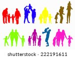 family silhouettes   Shutterstock .eps vector #222191611