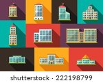 set of vector flat design... | Shutterstock .eps vector #222198799