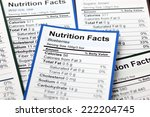 lots of nutrition facts. close... | Shutterstock . vector #222204745