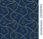 seamless sea pattern with... | Shutterstock .eps vector #222209491