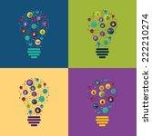 flat concept  set modern design ... | Shutterstock . vector #222210274
