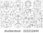 doodles border frame arrow... | Shutterstock .eps vector #222212644