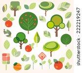 set of flat gardening icons | Shutterstock .eps vector #222219247