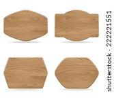 set of shapes wooden sign... | Shutterstock .eps vector #222221551