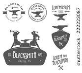 set of vintage blacksmith... | Shutterstock .eps vector #222223087