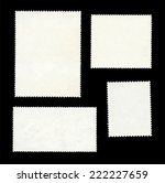 set of post stamps reverse side ... | Shutterstock .eps vector #222227659