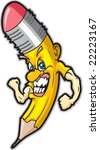 angry pencil | Shutterstock .eps vector #22223167
