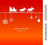 christmas card santa claus and... | Shutterstock . vector #222231691